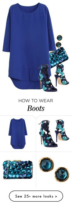 """blue bubbles"" by ele88na on Polyvore featuring Love Moschino, WithChic, Casadei, Marc by Marc Jacobs, women's clothing, women, female, woman, misses and juniors"
