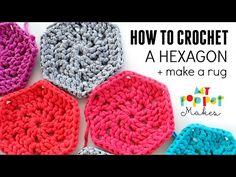 How to Crochet: Chunky Hexie Crochet Rug Pattern - My Poppet Makes
