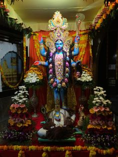 Mother Kali, Kali Mata, Bhagavata Purana, Esoteric Art, Kali Goddess, Gods And Goddesses, Christmas Tree, Holiday Decor, Drawings