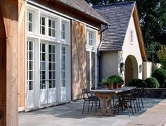 barefoot contessa's outdoor table - windows and doors- for studio barn