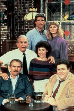 """Cheers. One of the best character-driven shows of all time. Watching it reminds me of my childhood, especially the antics of Norm and Cliff. They reminded me of two best friends (""""adults"""") I knew as a kid. And Carla had the funniest lines. Bar Patron: """"Excuse me Ma'am, do you have a Clavin here?"""" Carla: """"Yes, it's at the end of the hall on your left"""" LOL"""