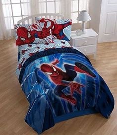 Spiderman Twin Comforter/Sheet Set - Kid's Bedroom Decor, Linen - FREE SHIPPING