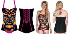 I found 'Tucson Swimsuit by Too Fast Clothing- Sugar Skull' on Wish, check it out!