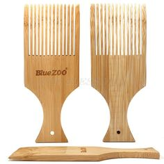 Anti-Static Bamboo Hair Pick Comb Scalp Massage Bamboo Hair Products, Afro Comb, Beard Brush, Free Artwork, Beard Care, Hair And Beard Styles, Artwork Design, Massage, Shopping