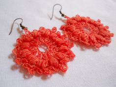 free round earrings crochet pattern