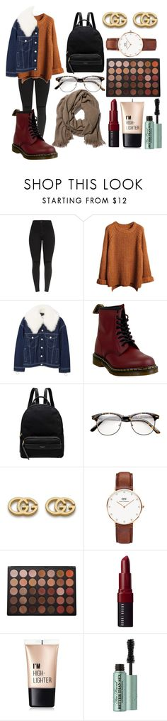 """Untitled #2517"" by ltguuk ❤ liked on Polyvore featuring MANGO, Dr. Martens, Radley, Gucci, Daniel Wellington, Morphe, Bobbi Brown Cosmetics, Charlotte Russe and Too Faced Cosmetics"