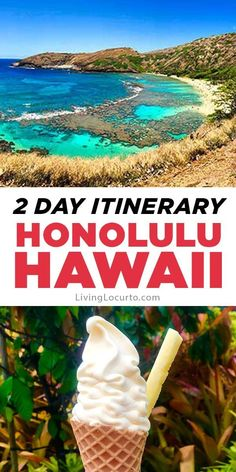 A 2 Day Oahu Itinerary for the best things to do and eat when visiting Hawaii. Honolulu travel tips with alternatives to Waikiki Beach. hawaii, 2 Day Oahu Itinerary - Honolulu Hawaii Travel Tips Waikiki Beach, Honolulu Hawaii, Maui, Hawaii Beach, Hawaii Travel Guide, Travel Tips, Budget Travel, Solo Travel, Travel Photos