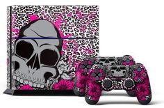 PS4 Console Designer Skin for Sony PlayStation 4 System plus Two2 Decals for PS4 Dualshock Controller Brittany by 247Skins *** To view further for this item, visit the image link.Note:It is affiliate link to Amazon.