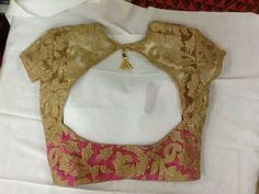 Back of cutely-styled blouse
