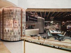 The Eat Drink Design Awards best restaurant shortlist has been announced - Vogue Australia Commercial Interior Design, Commercial Interiors, Cafe Restaurant, Restaurant Design, Interior Designers Sydney, Vogue Living, Bar Seating, Exposed Brick, Glass House