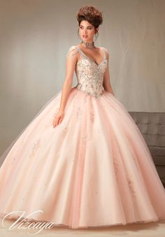 Mori Lee Vizcaya Quinceanera Dress Style 89065 is made for girls who want to look like a beautiful Princess on her Sweet 15. Made out of tulle, this ball gown features a sleeveless bodice with a lovel