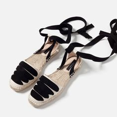 Lace up espadrilles Espadrilles Outfit, Lace Up Espadrilles, Espadrille Sandals, Lace Up Shoes, Cute Shoes, Me Too Shoes, Fashion Mode, Fashion Shoes, Gold High Heel Sandals