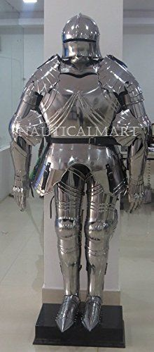 NauticalMart Medieval Gothic Full Suit of Armor Wearable Armor Costume Medieval Gothic, Medieval Knight, Medieval Armor, Halloween Suits, Pauldron, Samurai Armor, Suit Of Armor, Knights Templar, Ultimate Collection