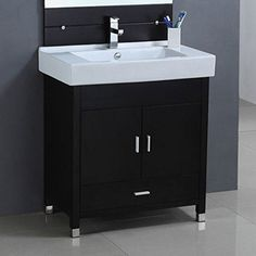 "31.5"" SINK CHEST - SOLID WOOD - NO FAUCET"