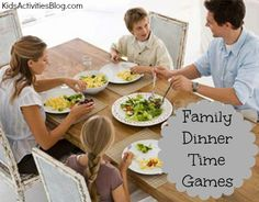Dinner Games at the Table {Family Games} #Kids #Activities #Parenting