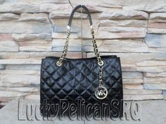 Michael Kors Susannah Large Tote Bag Handbag Black NWT #MichaelKors #TotesShoppers