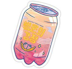 'Lucky Feelings' Sticker by LauraOConnor Bubble Stickers, Food Stickers, Phone Stickers, Kawaii Stickers, Journal Stickers, Diy Stickers, Printable Stickers, Cute Kawaii Drawings, Kawaii Doodles