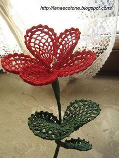 Bellissimo fiore all'uncinetto con schema - Il blog italiano sullo Shabby Chic e non solo
