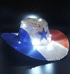 GIFTEXPRESS Light Up Patriotic Cowboy…