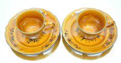 Elysee Luneville Faience de France Louis XV Set of 2 cups and saucers Floral #elyseeluneville #vintagedinnerware #cupsandsaucers #teacups #vintageteacups #madeinfrance #hightea