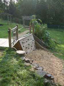 kids play area outdoor...like the tree trunk stumps too