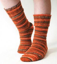 Mary Maxim - Ribbed Cuff Socks Pattern - Free Patterns - Patterns & Books