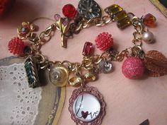 Elegancevintage jewelry assemblage charm bracelet by originalnoell, $48.00