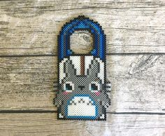 Bring a little kawaii to your life with this adorable Totoro-inspired Perler bead door hanger. See more  on Instagram @hollohandcrafted