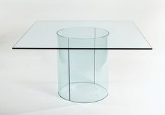 Carosello Square Glass Dining Table