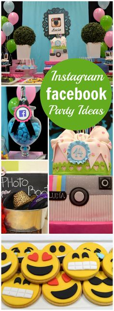Check out this cool Instagram and Facebook party! See more party ideas at CatchMyParty.com!