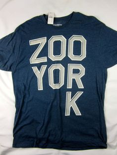 Zoo York NYC skate short sleeve t shirt men's blue size XL #ZooYork #GraphicTee