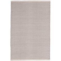 Herringbone Hand-Woven Grey Area Rug