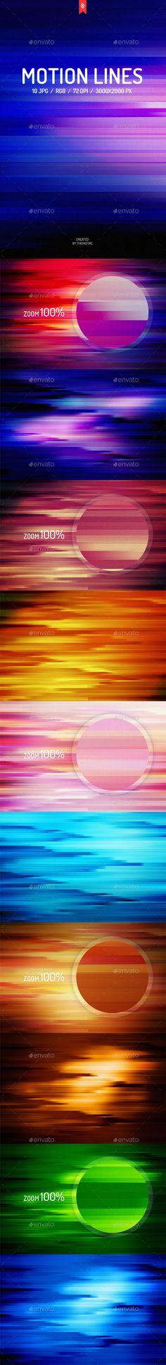 10 JPG Motion Lines Backgrounds #design Download: http://graphicriver.net/item/motion-lines-backgrounds/13902528?ref=ksioks