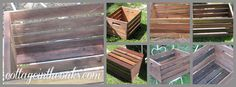 DIY vinegar stained crate..how to make a brand new crate look vintage in no time!