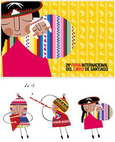Madre aymara Alpacas, Illustrations, Illustration Art, Arte Latina, Kitty Crowther, Peruvian Art, Sketchbook Project, Christmas Characters, Arte Popular