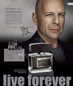 Perfume for man by Bruce Willis. Go to lrbodyshop.com