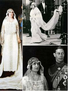 theweddingsecret:  Wedding Dress of Lady Elizabeth Bowes-Lyon for her marriage to Prince Albert, Duke of York, 1923