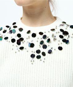 PLAIN CLOTHING(プレーンクロージング)の【PLAIN CLOTHING】ビジューニットトップス(ニット/セーター)|詳細画像