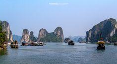 Halong Bay Vietnam Landscape Photography, Vietnam, New York Skyline, Travel, Viajes, Destinations, Traveling, Trips, Tourism