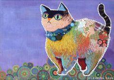 Free stitch embroidery by Kimika Hara