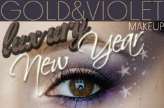 Alina Rose Makeup Blog: Makijaż na sylwestra, fiolet, złoto, gwiazdki.