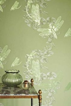 Dragonfly Apple Green Wallpaper available to buy online. Dragonfly Apple Green wallpaper by Barneby Gates at best price. Free UK delivery on orders over Dragonfly Wallpaper, Unique Wallpaper, Green Wallpaper, Wall Wallpaper, Amazing Wallpaper, Dragonfly Art, Beach Wallpaper, Animal Wallpaper, Stunning Wallpapers