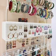 over the door/wall jewelry organizer the company store Wall Organization, Jewelry Organization, Organizing Ideas, Hanging Jewelry Organizer, Jewelry Holder, Jewely Organizer, Jewelry Rack, Jewelry Wall Organizers, Hair Tie Organizer