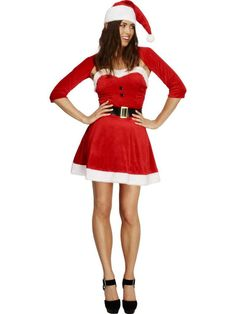 Fever Santa Babe Costume - Christmas Dress Fancy Outfit Miss Ladies Sexy Xmas Cute Christmas Outfits, Christmas Fancy Dress, Christmas Costumes, Halloween Fancy Dress, Adult Halloween, Halloween Nails, White Christmas, Christmas Eve, Babe