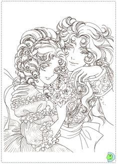 Les 13 meilleures images de coloriages lady oscar coloring pages coloring books et colouring - Coloriage manga livre ...