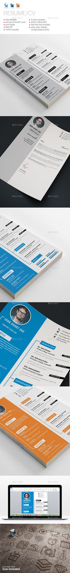 Love The Idea Of This Look For A Resume Design. I Think The Header