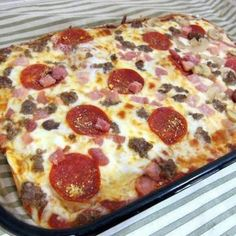 Low carb and diabetic friendly, gluten free pizza made with... no dough! But a LOT of cheese.