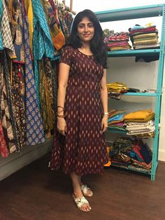 Long Gown Dress, Frock Dress, Salwar Dress, Shirt Dress, Stylish Dresses For Girls, Casual Dresses, Fashion Dresses, Dress Outfits, Kalamkari Dresses