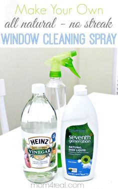 Make Your Own All Natural No Streak Window Cleaning Spray