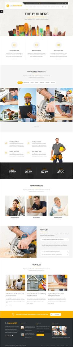 The builders is a clean and flexible responsive 10in1 #WordPress Theme for #webdesign construction and builders websites download now➩ https://themeforest.net/item/the-builders-construction-wordpress-theme/19079511?ref=Datasata